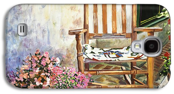 Rocking Chairs Galaxy S4 Cases - Aix Country Patio Galaxy S4 Case by David Lloyd Glover