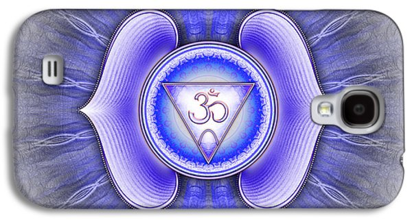 Healing Posters Galaxy S4 Cases - Ajna Chakra Series IV Galaxy S4 Case by Dirk Czarnota