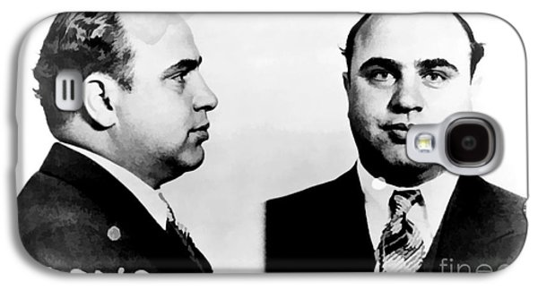 Jail Galaxy S4 Cases - Al Capone Mug Shot Galaxy S4 Case by Unknown