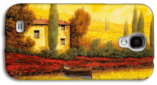 Guido Galaxy S4 Cases - Al Tramonto Sul Fiume Galaxy S4 Case by Guido Borelli