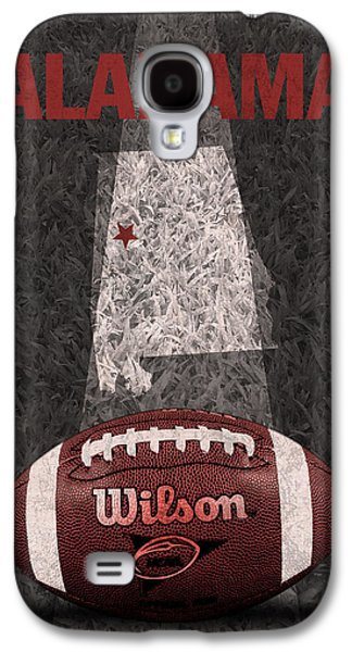 Alabama Galaxy S4 Cases - Alabama Football Map Poster Galaxy S4 Case by Design Turnpike