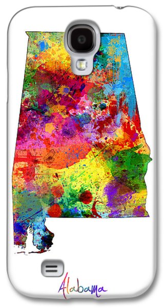 Alabama Map Galaxy S4 Case by Michael Tompsett