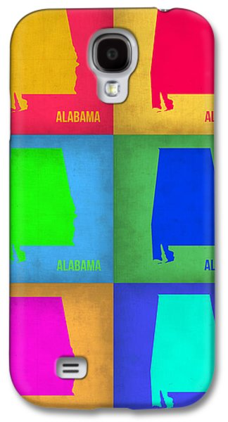Alabama Galaxy S4 Cases - Alabama Pop Art Map 1 Galaxy S4 Case by Naxart Studio