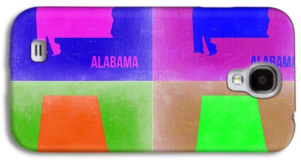 Alabama Galaxy S4 Cases - Alabama Pop Art Map 2 Galaxy S4 Case by Naxart Studio