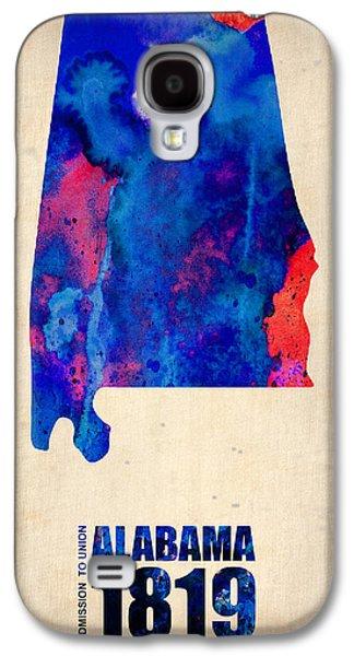 Alabama Galaxy S4 Cases - Alabama Watercolor Map Galaxy S4 Case by Naxart Studio