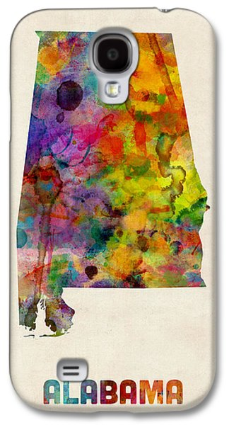 Alabama Watercolor Map Galaxy S4 Case by Michael Tompsett