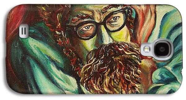 Angels Smoking Galaxy S4 Cases - Alan Ginsberg Poet Philosopher Galaxy S4 Case by Carole Spandau