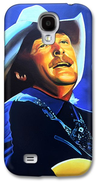 Nashville Paintings Galaxy S4 Cases - Alan Jackson Galaxy S4 Case by Paul Meijering