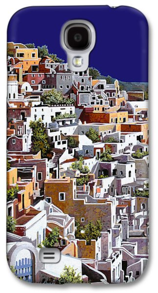 White House Galaxy S4 Cases - alba a Santorini Galaxy S4 Case by Guido Borelli