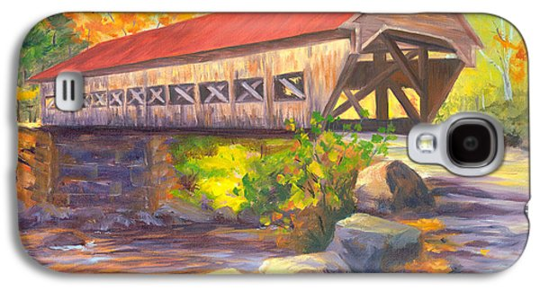 Covered Bridge Paintings Galaxy S4 Cases - Albany Covered Bridge #49 Galaxy S4 Case by Elaine Farmer