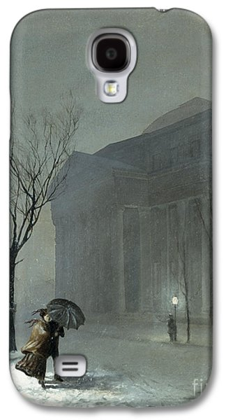 Chill Galaxy S4 Cases - Albany in the Snow Galaxy S4 Case by Walter Launt Palmer