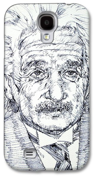 Einstein Drawings Galaxy S4 Cases - ALBERT EINSTEIN - drawing portrait Galaxy S4 Case by Fabrizio Cassetta