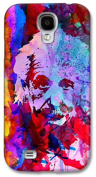 Theory Galaxy S4 Cases - Albert Einstein Galaxy S4 Case by Naxart Studio