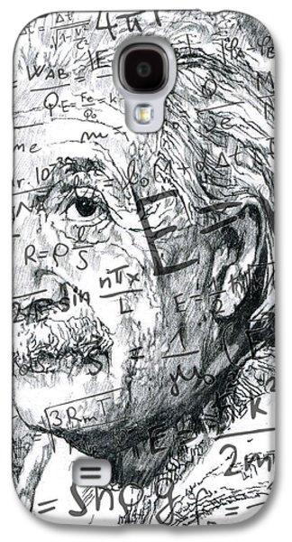 Einstein Drawings Galaxy S4 Cases - Albert Einstein Galaxy S4 Case by Kyle Willis