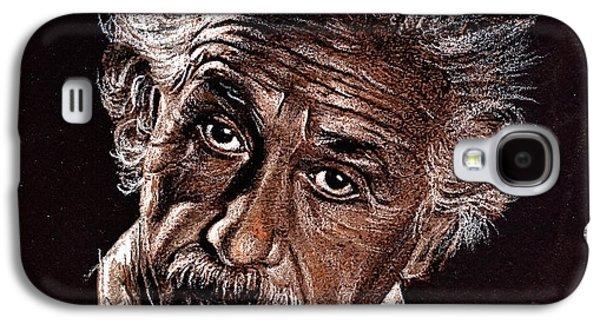 Einstein Drawings Galaxy S4 Cases - Albert Einstein Portrait Galaxy S4 Case by Daliana Pacuraru
