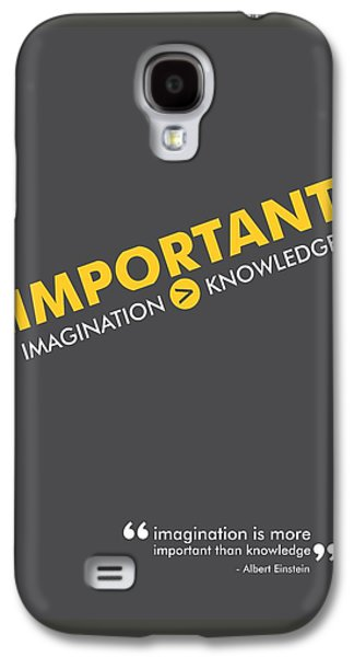 Albert Einstein Typography Print Quotes, Poster Galaxy S4 Case by Lab No 4 - The Quotography Department