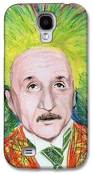Einstein Drawings Galaxy S4 Cases - Albert Einstein Galaxy S4 Case by Yoshiko Mishina