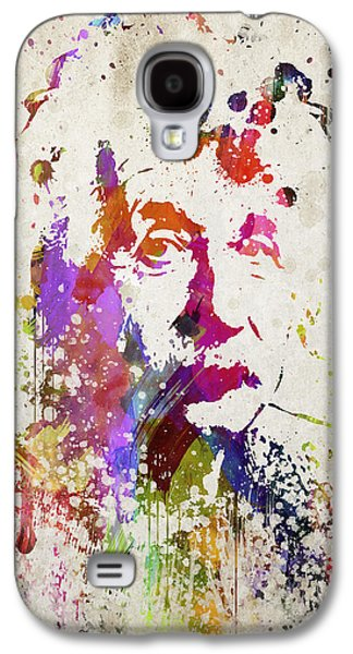 Invention Galaxy S4 Cases - Albert in Color Galaxy S4 Case by Aged Pixel