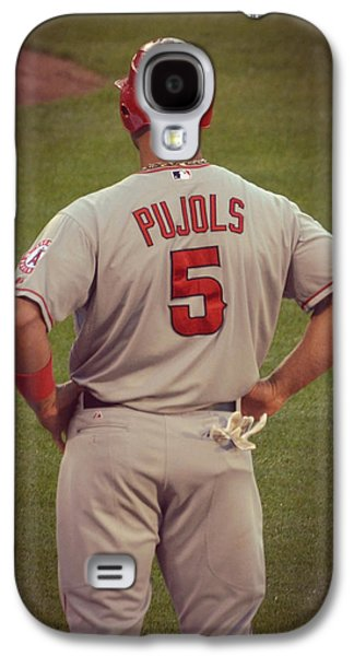 1st Base Galaxy S4 Cases - Albert Pujols Galaxy S4 Case by David Ziegler