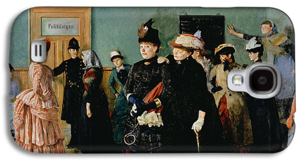 Policeman Galaxy S4 Cases - Albertine At The Police Doctors Waiting Room, 1886-87 Galaxy S4 Case by Christian Krohg