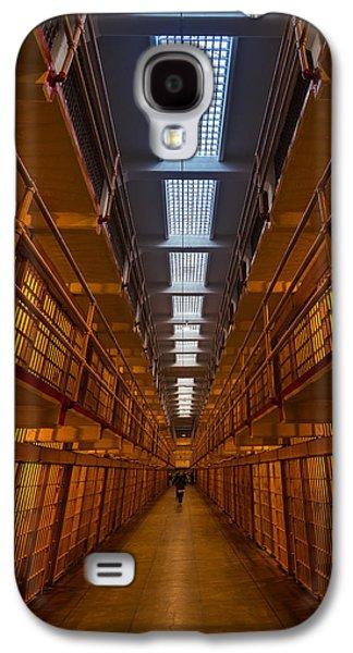 Alcatraz Photographs Galaxy S4 Cases - Alcatraz Main Cell Block Galaxy S4 Case by Steve Gadomski