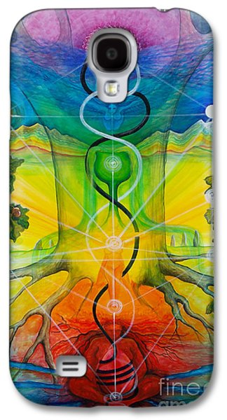 Chakra Rainbow Paintings Galaxy S4 Cases - Alchemical Door Galaxy S4 Case by Colleen Koziara
