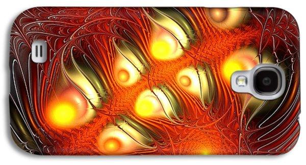 Flame Galaxy S4 Cases - Alchemy Galaxy S4 Case by Anastasiya Malakhova