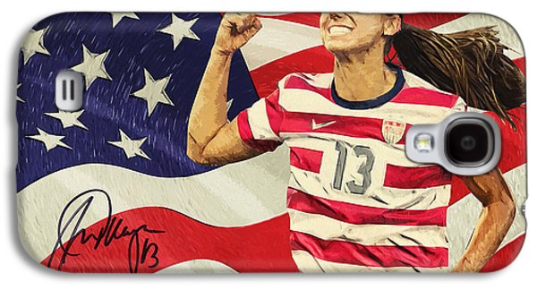 Olympic Gold Medalist Galaxy S4 Cases - Alex Morgan Galaxy S4 Case by Taylan Soyturk