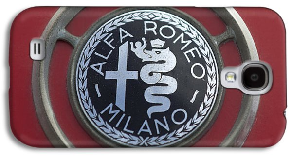 Series Photographs Galaxy S4 Cases - 1961 Alfa Romeo Giulietta Sprint Veloce Series II Emblem -1045c Galaxy S4 Case by Jill Reger