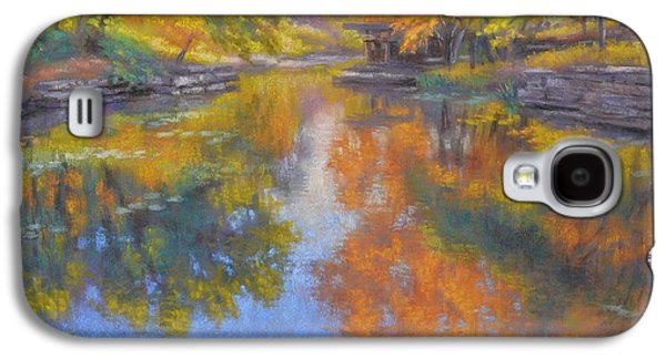 Universities Pastels Galaxy S4 Cases - Alfred Caldwell Lily Pool 1 Galaxy S4 Case by Fiona Craig