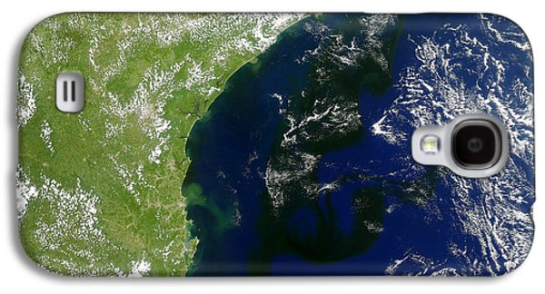Algal Galaxy S4 Cases - Algal Bloom Off Brazil Coast Galaxy S4 Case by Science Source