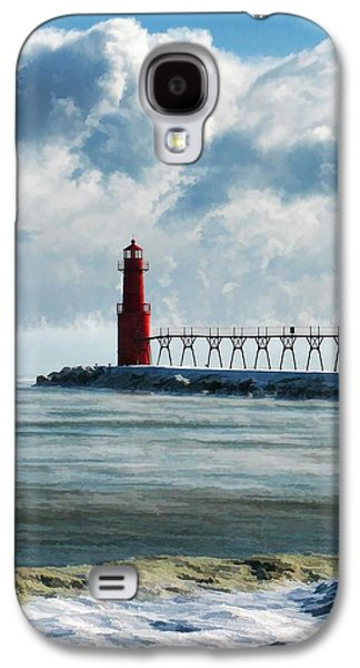 Chicago Paintings Galaxy S4 Cases - Algoma Pierhead Lighthouse Galaxy S4 Case by Christopher Arndt