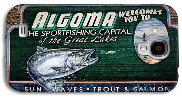Sportfishing Galaxy S4 Cases - Algoma Welcomes You Galaxy S4 Case by Joan Carroll