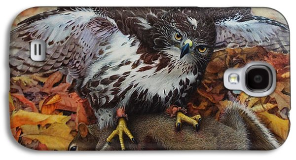 Red Tail Hawk Galaxy S4 Cases - Ali and Quints First Galaxy S4 Case by Ken Everett