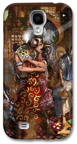 Baba Paintings Galaxy S4 Cases - Ali Baba and Mina The Kiss Galaxy S4 Case by Reynold Jay
