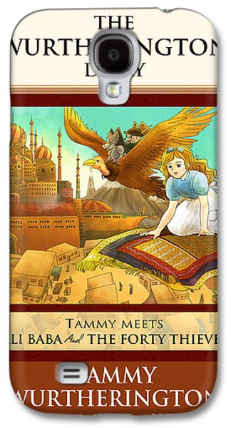 Baba Paintings Galaxy S4 Cases - Ali Baba Cover Galaxy S4 Case by Reynold Jay