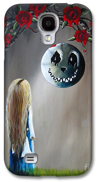 Creepy Paintings Galaxy S4 Cases - Alice In Wonderland Original Artwork - Alice And The Beautiful Nightmare Galaxy S4 Case by Shawna Erback