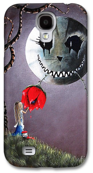 Alice In Wonderland Galaxy S4 Cases - Alice In Wonderland Original Artwork - Alice And The Dripping Rose Galaxy S4 Case by Shawna Erback