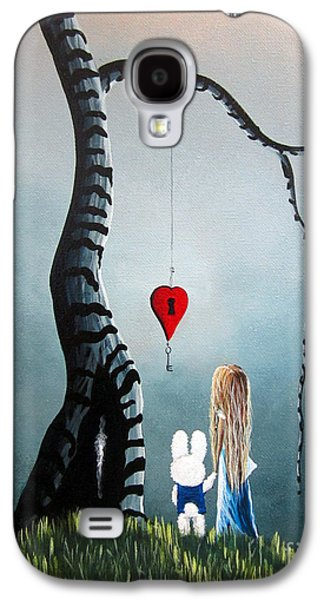 Alice In Wonderland Galaxy S4 Cases - Alice In Wonderland Original Artwork - Alice And The Enchanted Key Galaxy S4 Case by Shawna Erback