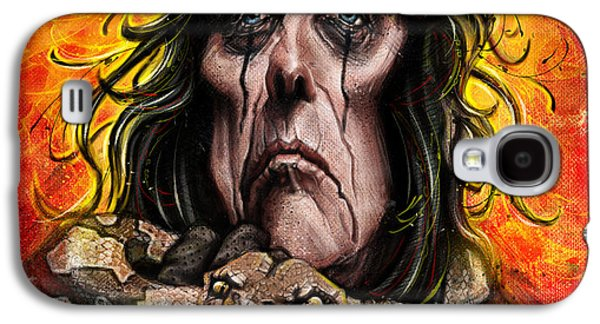 Photoshop Digital Art Galaxy S4 Cases - Alice Cooper Galaxy S4 Case by Andre Koekemoer
