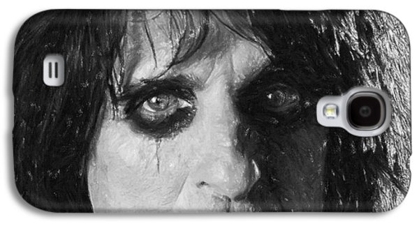 Person Pastels Galaxy S4 Cases - Alice Cooper Galaxy S4 Case by Antony McAulay