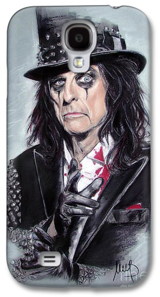 Celebrities Pastels Galaxy S4 Cases - Alice Cooper Galaxy S4 Case by Melanie D