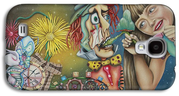 Mad Hatter Paintings Galaxy S4 Cases - Alice Galaxy S4 Case by Desiree Aponte