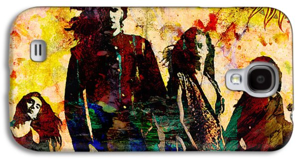 Rock N Roll Paintings Galaxy S4 Cases - Alice In Chains Original Painting Print Galaxy S4 Case by Ryan RockChromatic