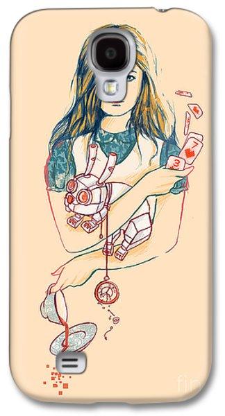 Alice In Wonderland Galaxy S4 Cases - Alice in Mechaland Galaxy S4 Case by Budi Satria Kwan