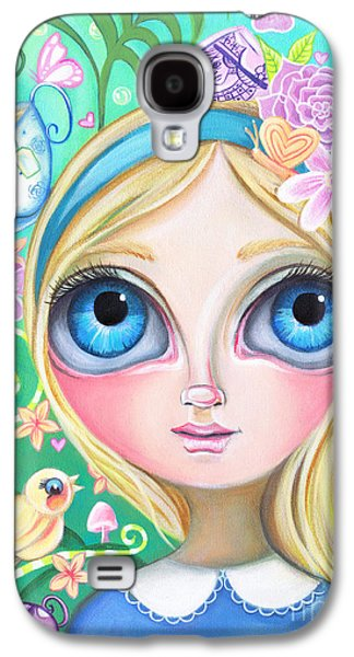 Mad Hatter Paintings Galaxy S4 Cases - Alice in Pastel Land Galaxy S4 Case by Jaz Higgins