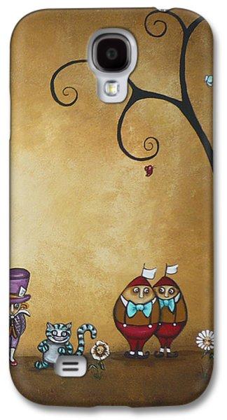 Mad Hatter Paintings Galaxy S4 Cases - Alice in Wonderland Art - Encore - II Galaxy S4 Case by Charlene Zatloukal