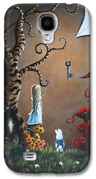 Dreamscape Galaxy S4 Cases - Alice In Wonderland Original Artwork - Key To Wonderland Galaxy S4 Case by Shawna Erback
