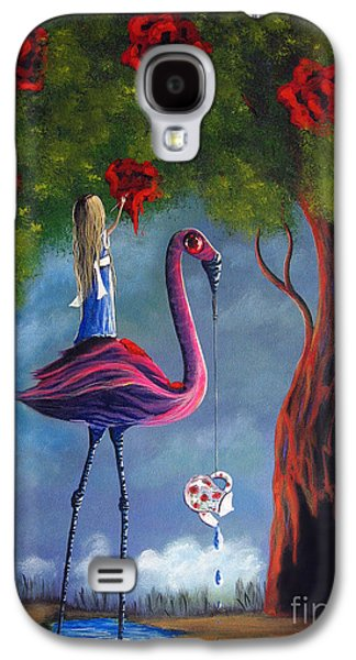 Creepy Paintings Galaxy S4 Cases - Alice In Wonderland Artwork  Galaxy S4 Case by Shawna Erback