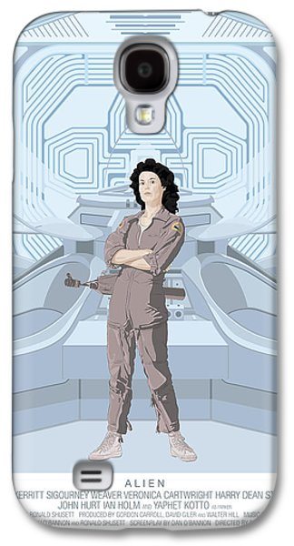 Alien Galaxy S4 Cases - Alien 1979 Movie Poster - feat. Ripley Galaxy S4 Case by Peter Cassidy